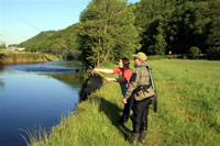 David Thomas fishing guide on the River Towy
